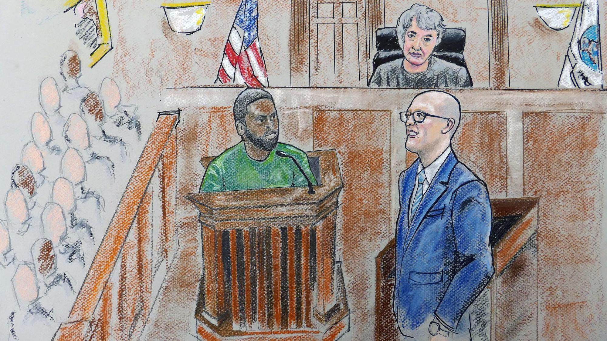Image result for DRAWINGS OF Baltimore Police Gun Trace Task Force OFFICERS IN COURT FOR THEFT RING