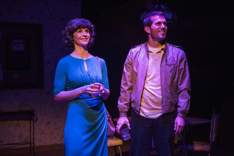 Lucy Carapetyan and Benjamin Sprunger in Raven Theatre's Chicago premiere of Nice Girl at the Raven Theatre.