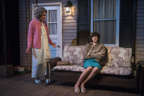 Lynne Baker and Lucy Carapetyan in Raven Theatre's Chicago premiere of Nice Girl at the Raven Theatre.