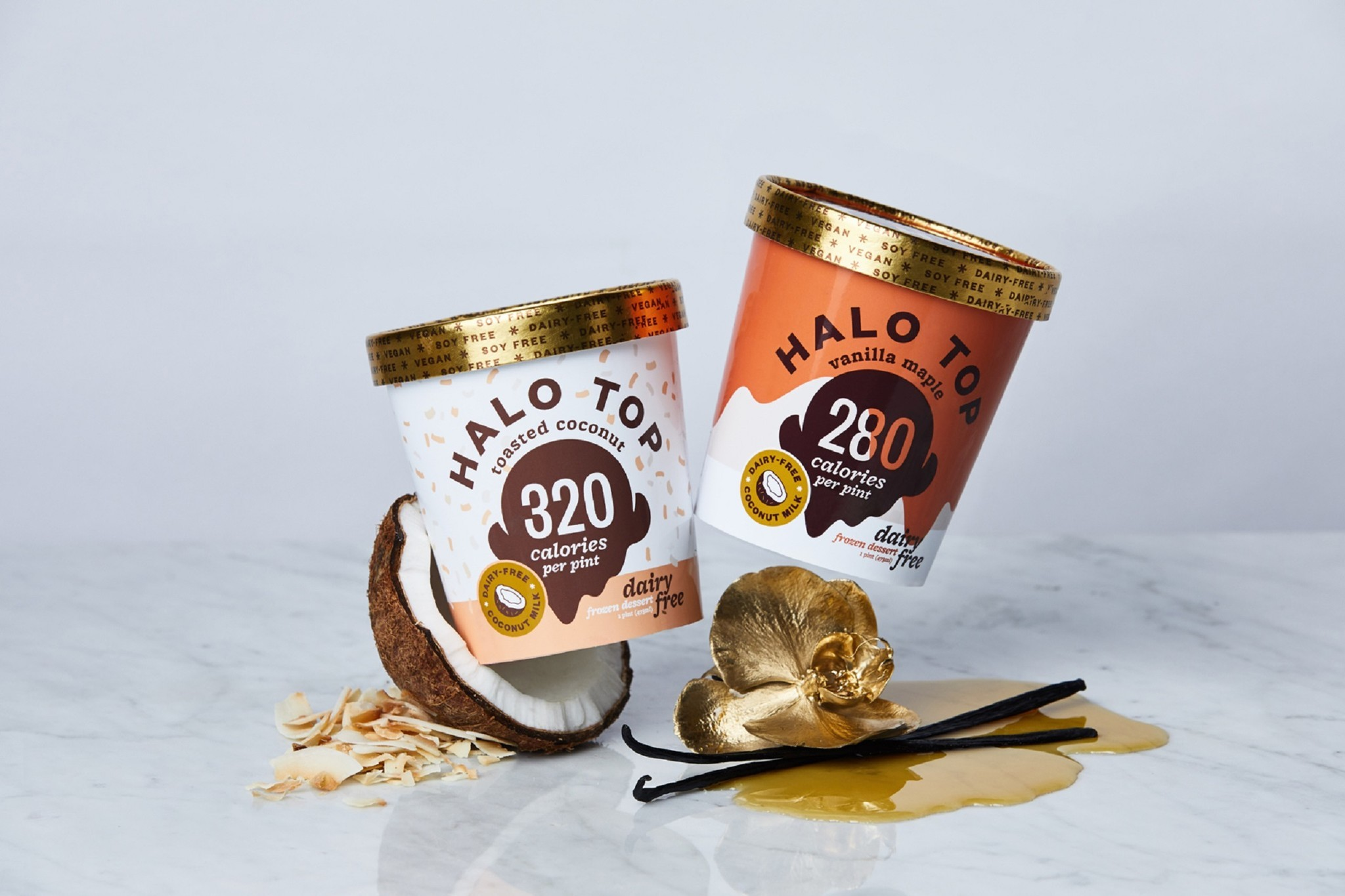 Halo Top Releases New Dairy Free Flavors Toasted Coconut And Vanilla Maple