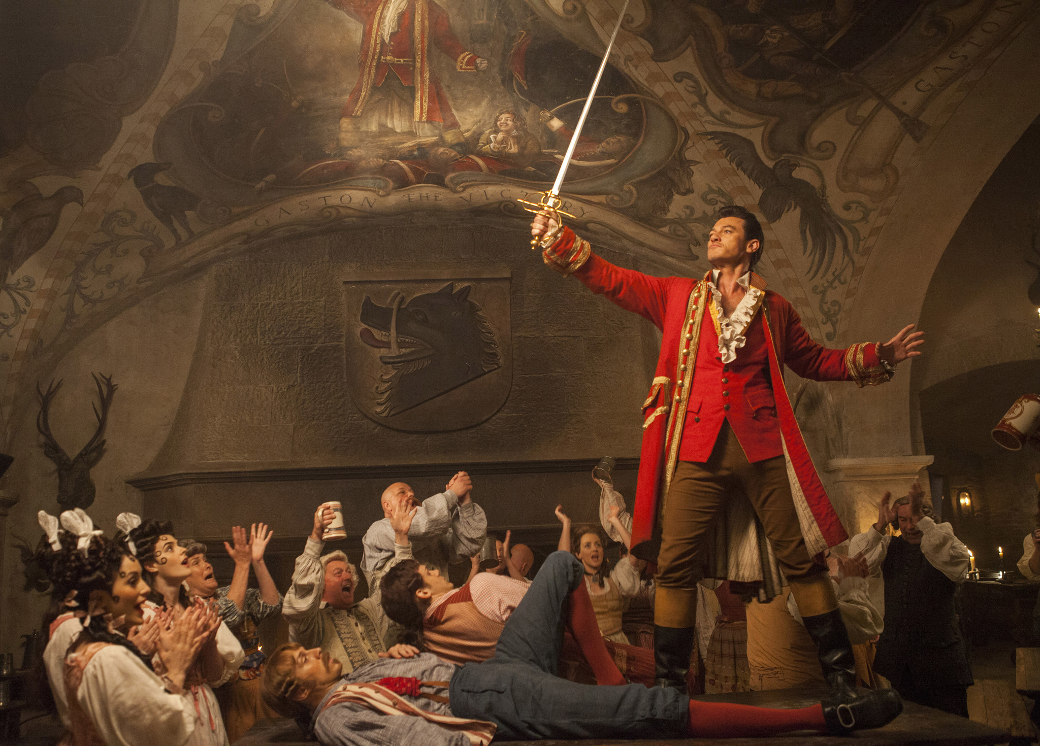 """Luke Evans plays Gaston in """"Beauty and the Beast."""""""