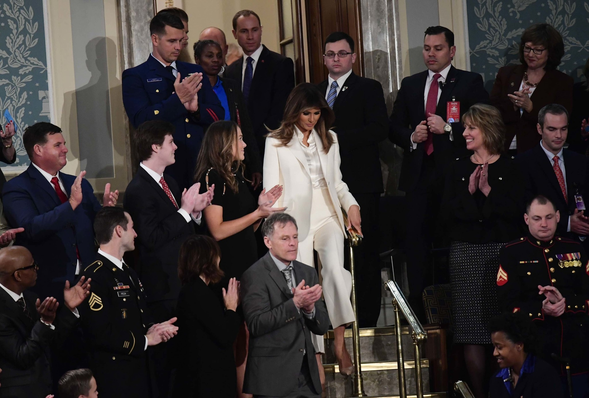 After a month out of view, Melania Trump reemerges for State of the Union - Chicago ...2048 x 1387