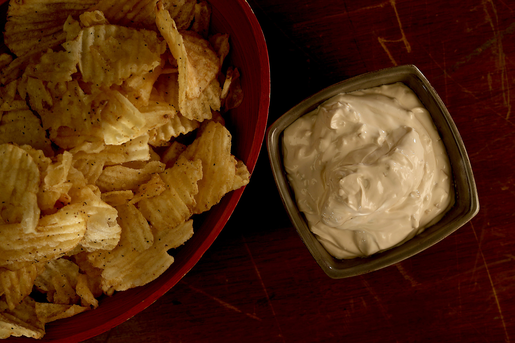LOS ANGELES, CA., JANUARY 25, 2018-- Lipton Onion Dip with Chips for the SUPERBOWL. (Kirk McKoy