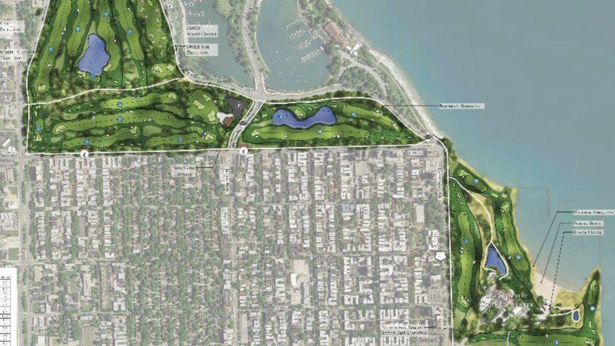 Revised Tiger Woods Golf Course Design For South Lakefront