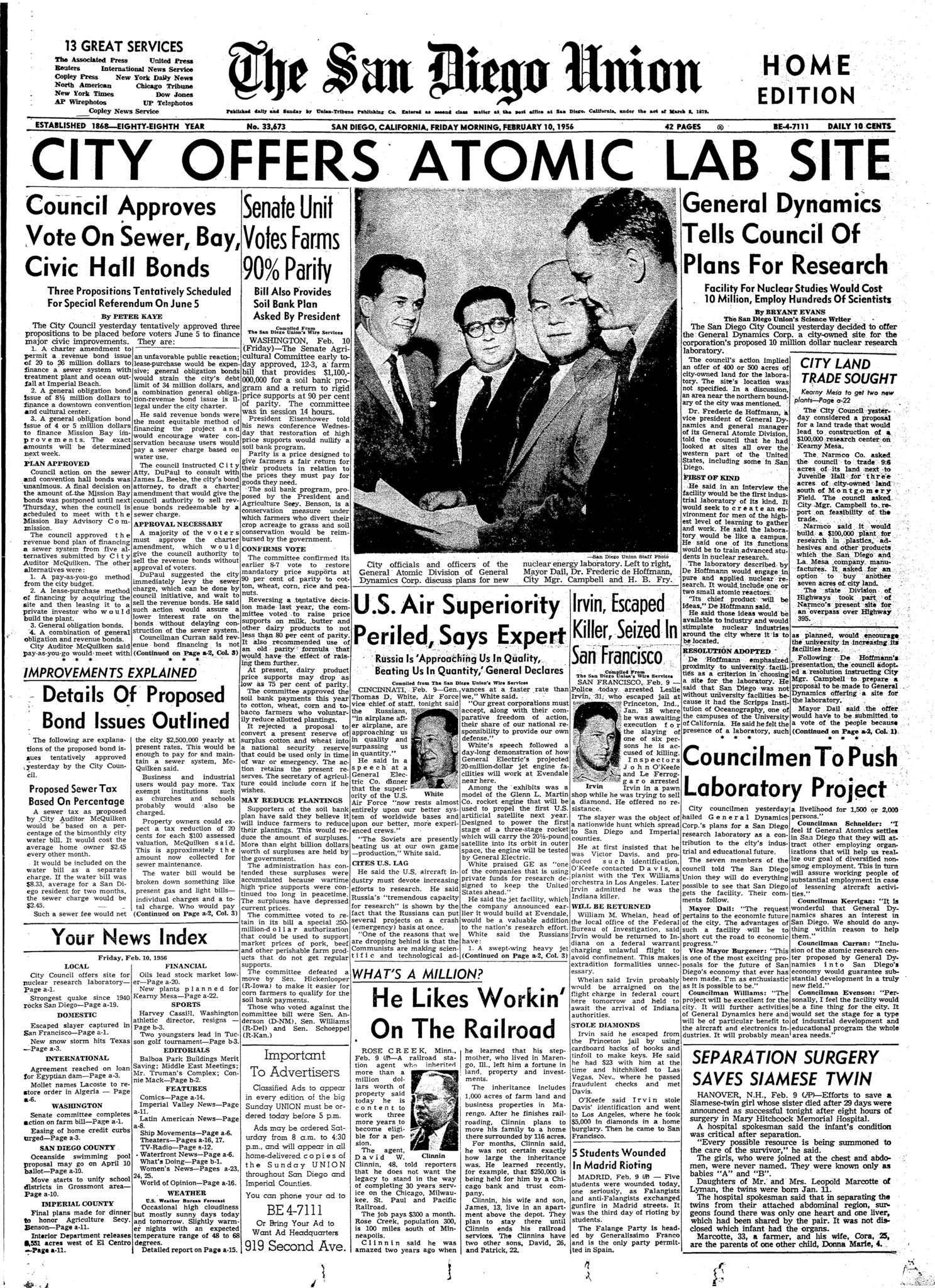 February 10, 1956