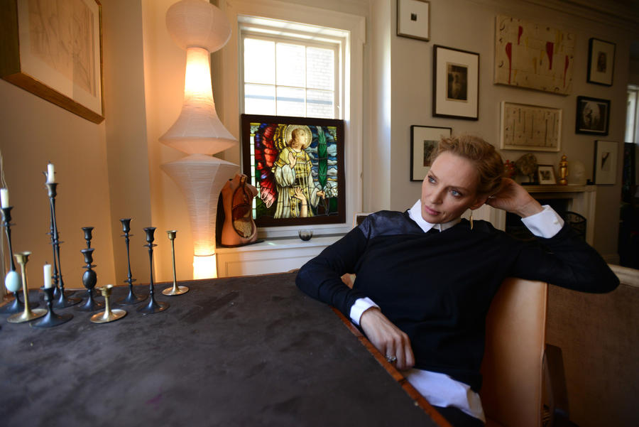 """Uma Thurman has clarified her remarks about an accident during """"Kill Bill"""" filming. (Jennifer S. Altman / For The Times)"""