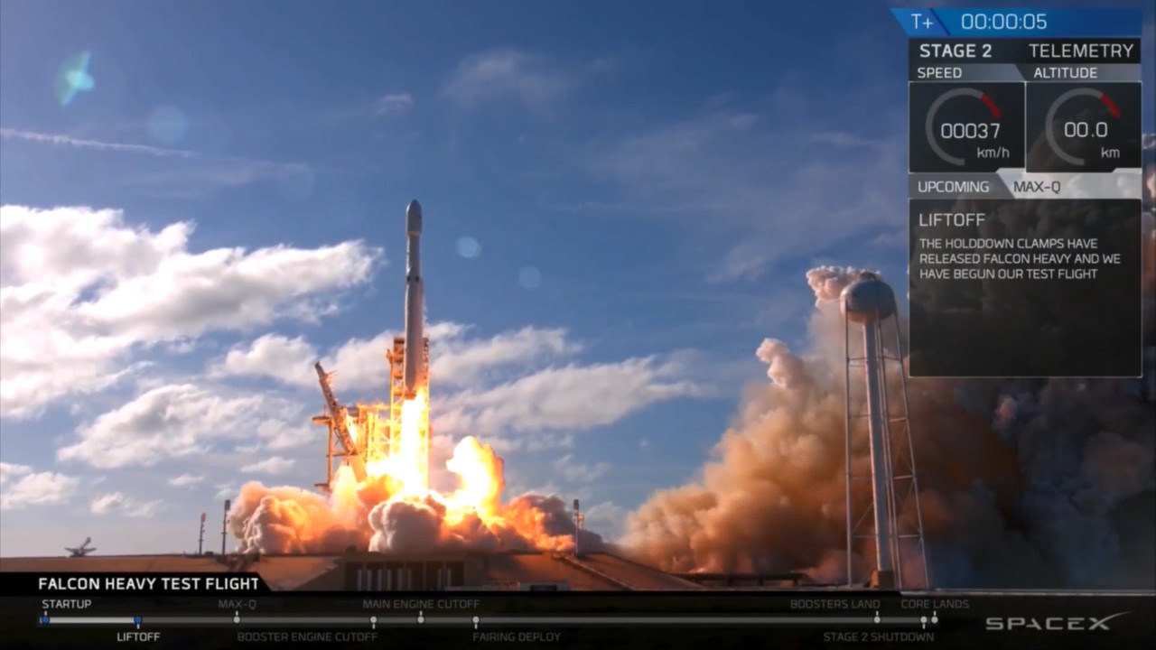 [Image: os-spacex-falcon-heavy-launch-live-cover...l-20180206]