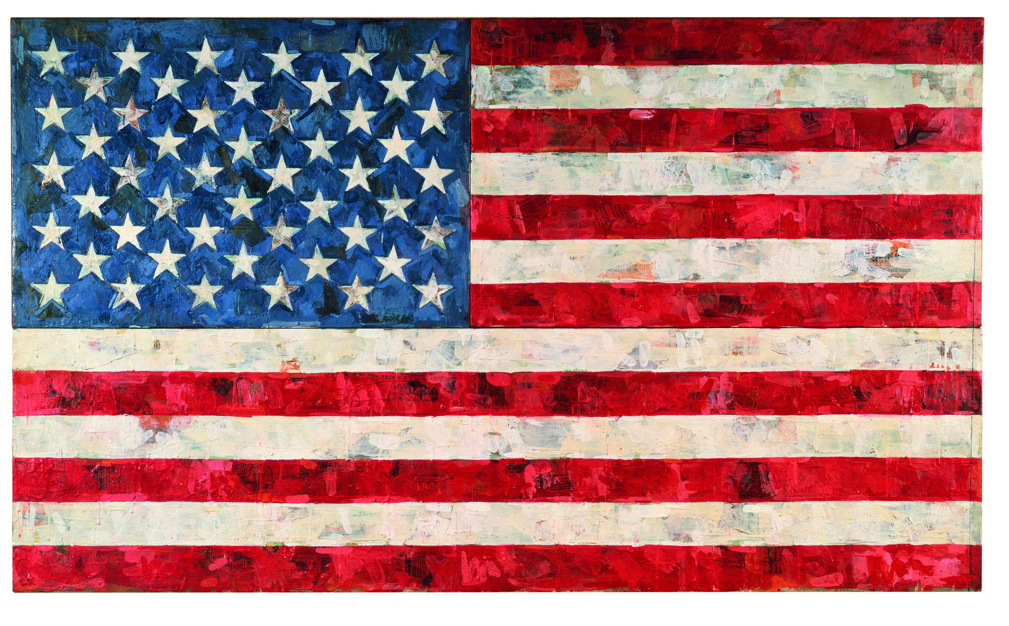 """Flag"" (1967) is part of the Broad's permanent collection."