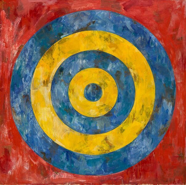 "Jasper Johns' ""Target"" (1961), on view at the Broad museum"