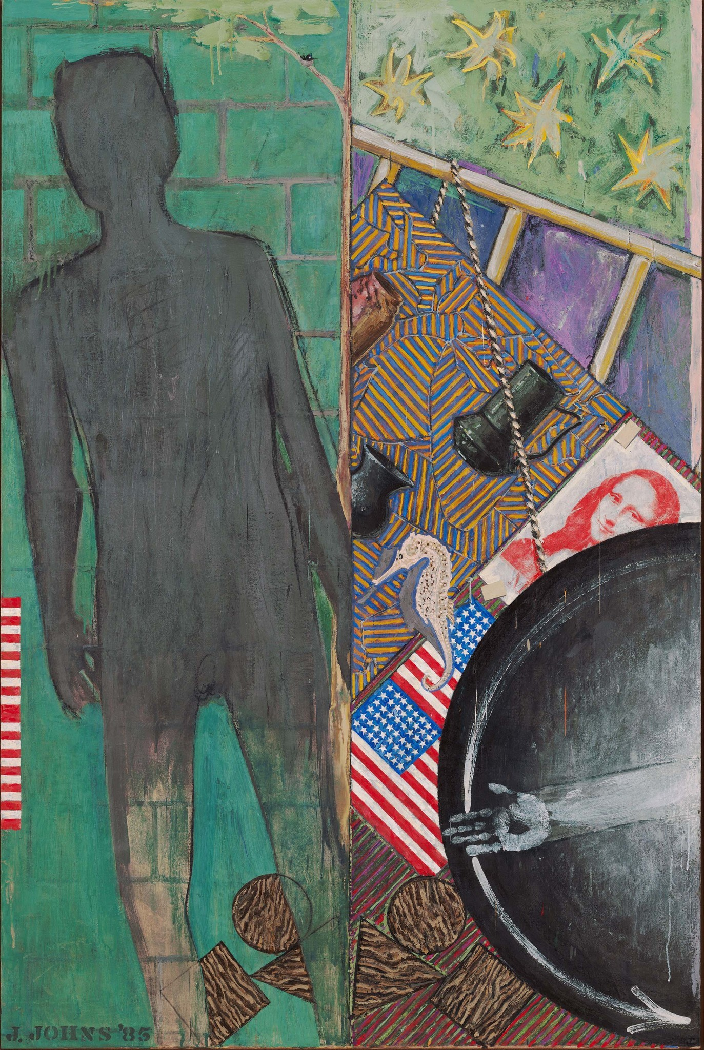 "Jasper Johns' ""Summer"" (1985), on view at the Broad museum."