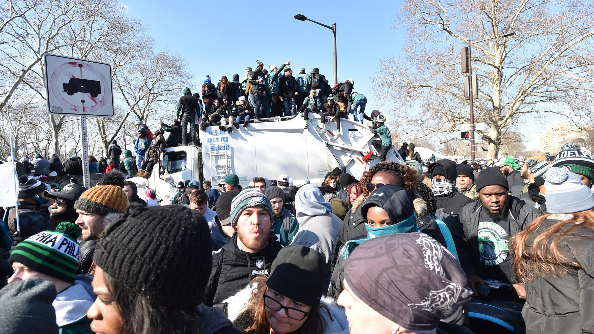 Eagles Fans Go Wild At Parade For Their Super Bowl Champs