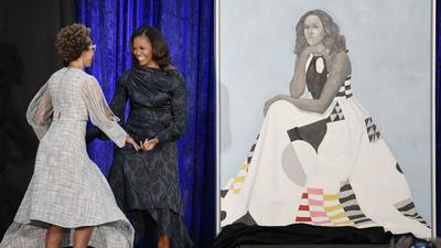 Michelle Obama portrait: What they're saying about Baltimore artist's big reveal