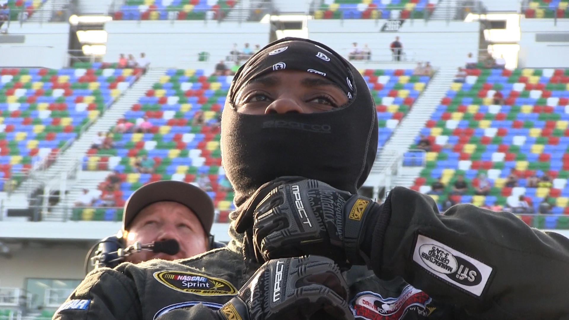 NASCAR's first female African-American pit crew member in Daytona