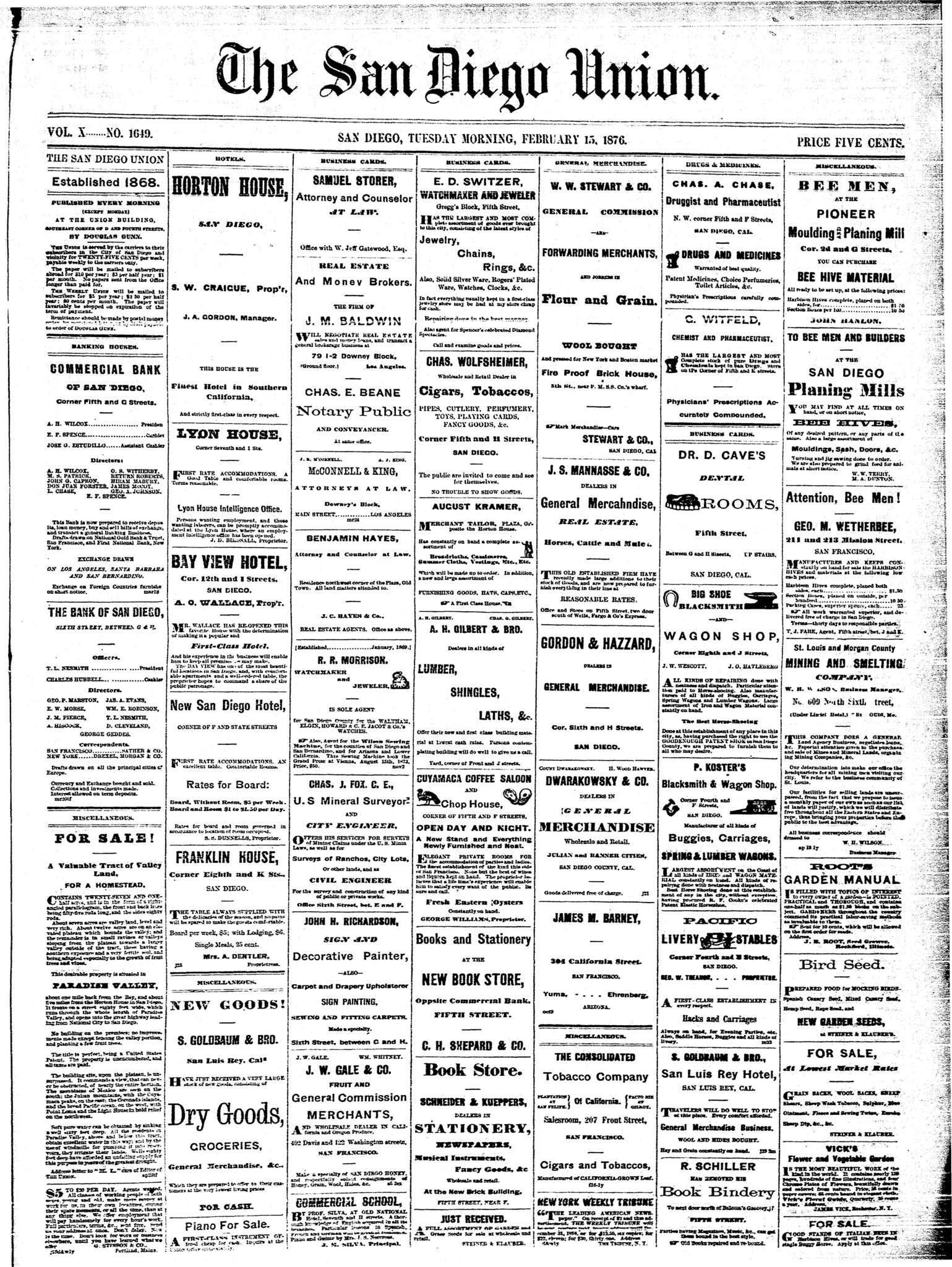 February 15, 1876