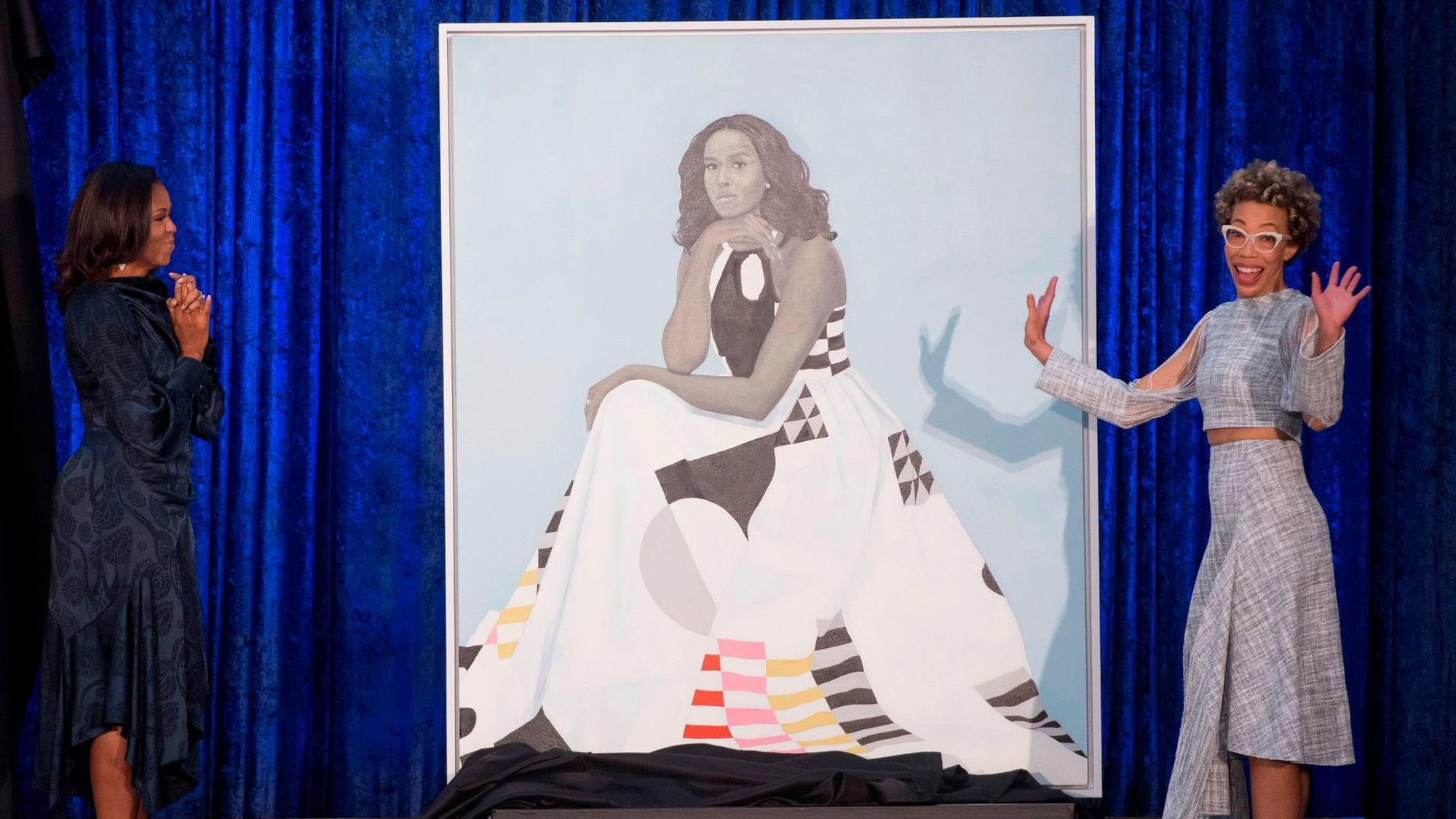 Michelle obama portrait by baltimore artist amy sherald makes michelle obama portrait by baltimore artist amy sherald makes national splash baltimore sun altavistaventures Image collections