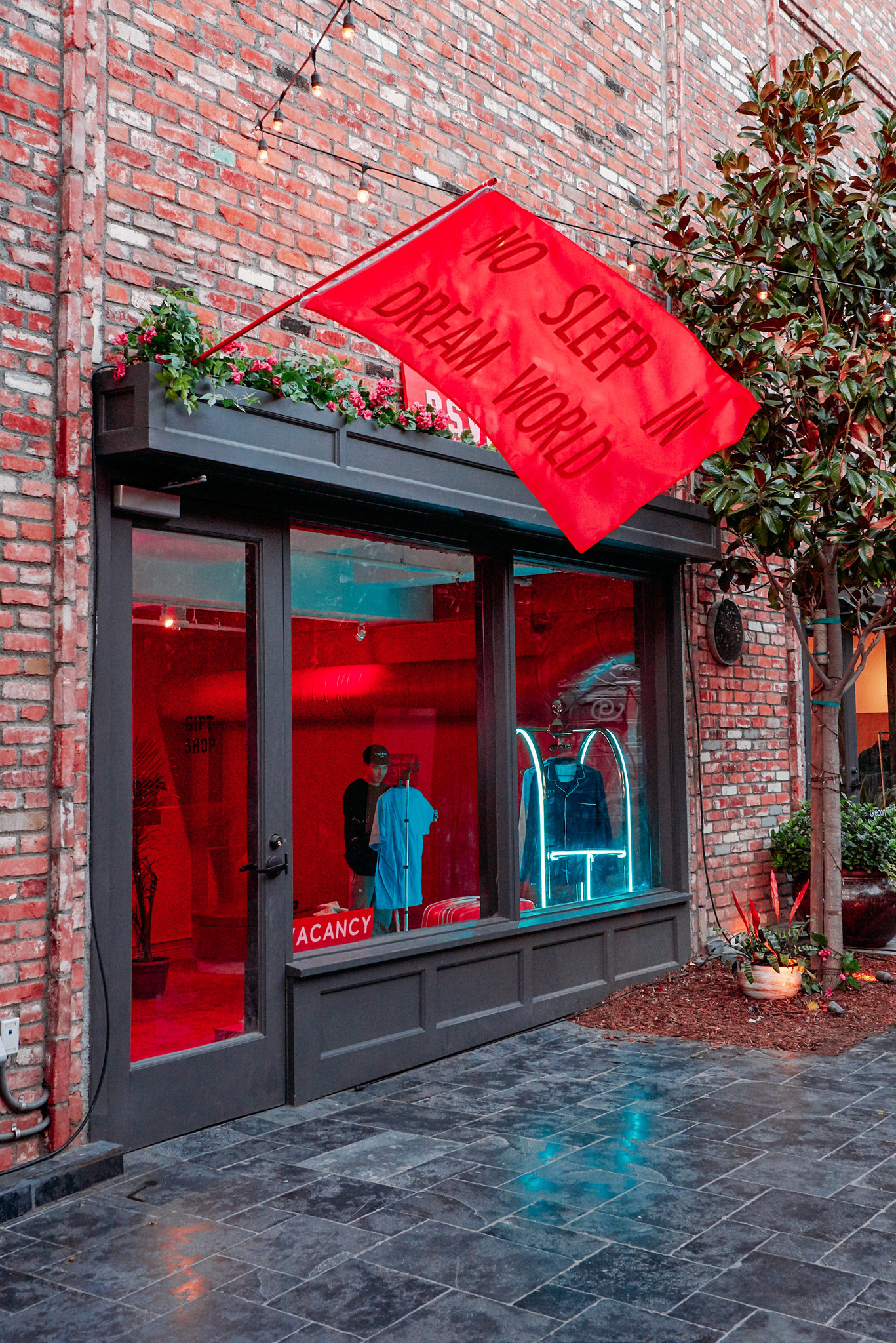 The 500 square foot gift boutique in the Dream Hollywood hotel is filed with trendy streewear.