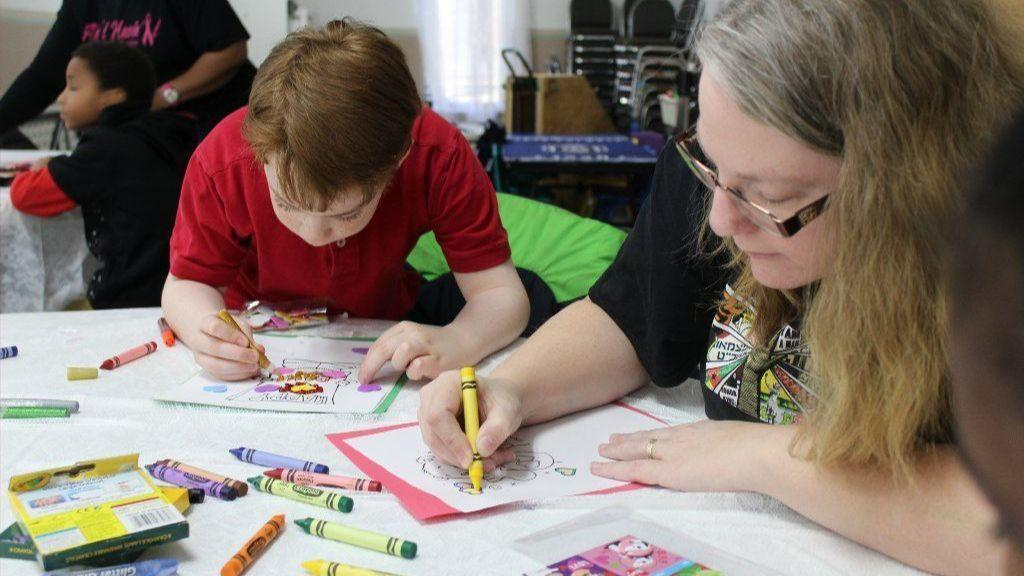 Adults, young people partner in Harford to make Valentine's Day cards for sick children