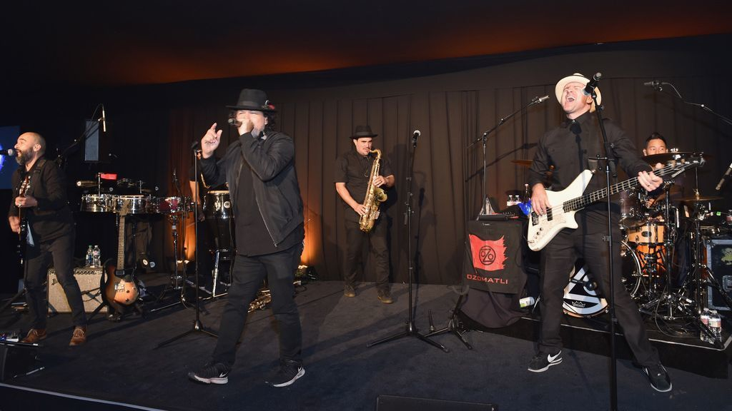 Ozomatli performs onstage during Learning Lab Ventures Gala in Partnership with Net-a-Porter on Jan. 25 in Beverly Hills