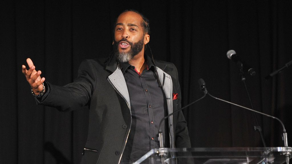 Sekou Andrews speaks onstage during Learning Lab Ventures Gala