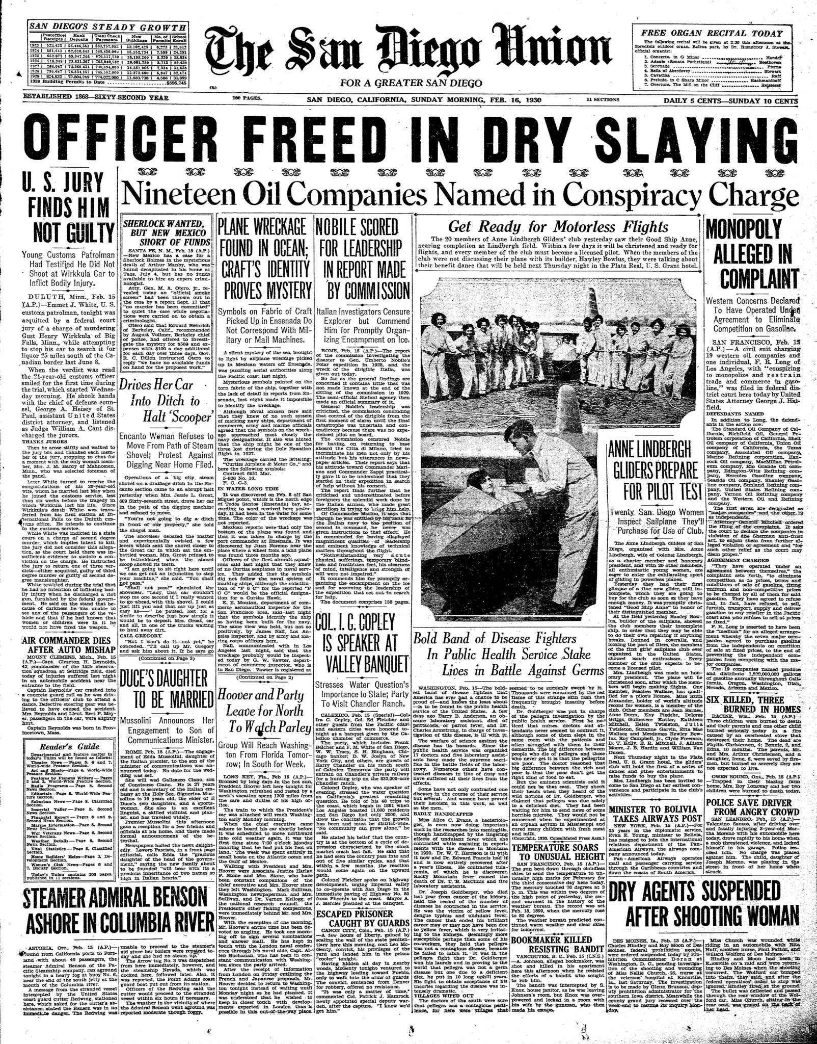 February 16, 1930