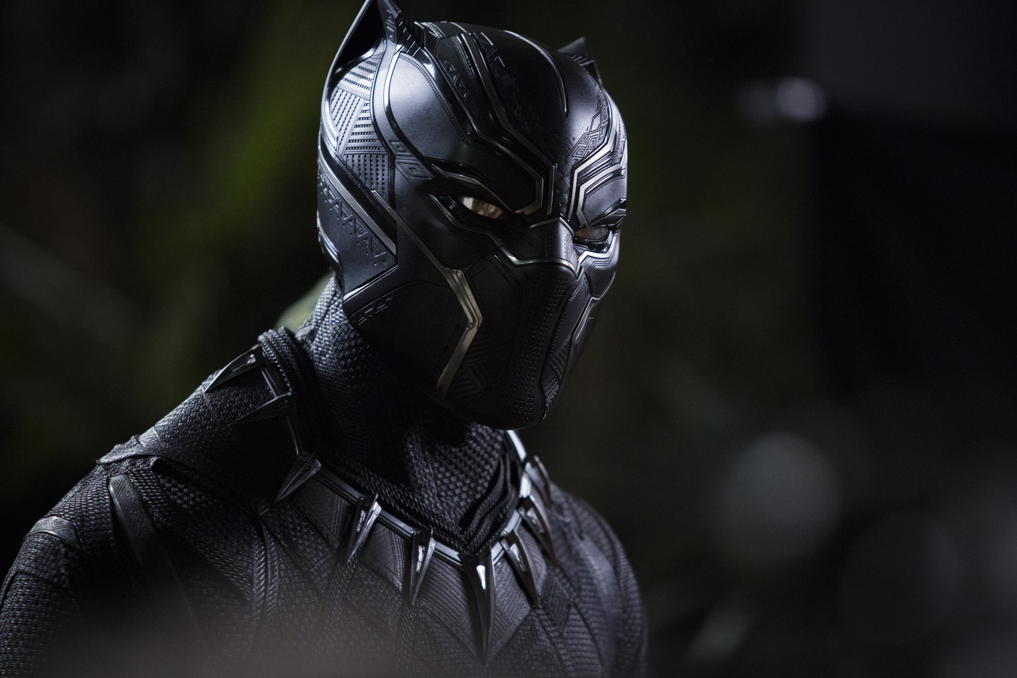 """T'Challa/Black Panther (Chadwick Boseman)in a scene from Marvel's """"Black Panther."""" Credit: Matt Ken"""