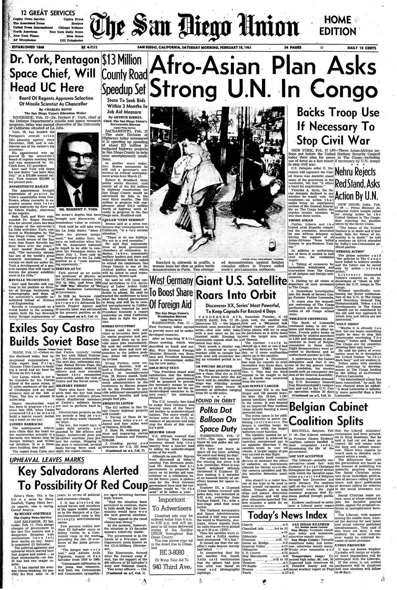 February 18, 1961