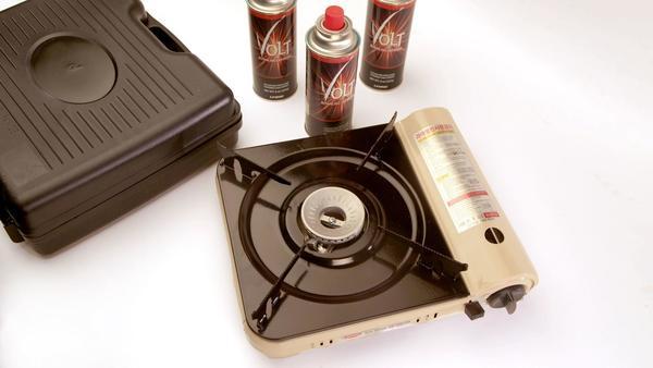 Tool Dept.: A Hanaro portable gas stove, good for dumplings, camping trips or earthquakes