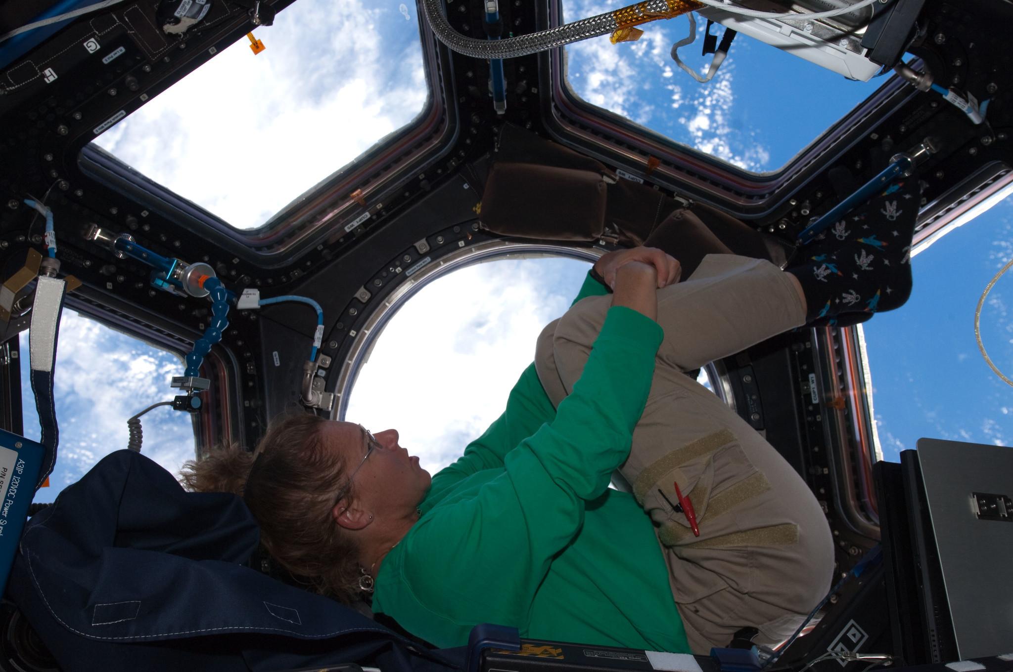 Sandra Magnus on the ISS