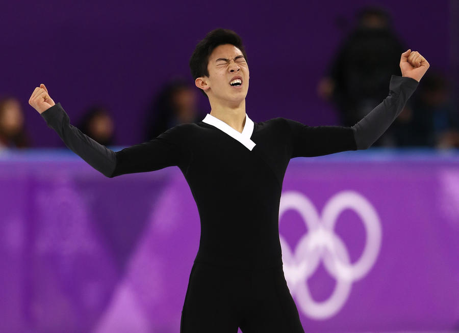 Nathan Chen competes during the men's single free program. (Jamie Squire/Getty Images)