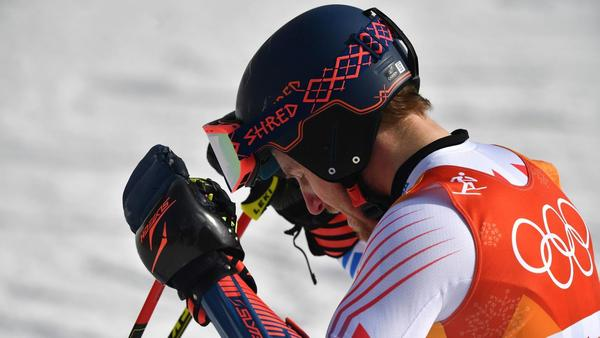 U.S. alpine skier Ted Ligety struggles in giant slalom as Austrian Marcel Hirscher takes gold