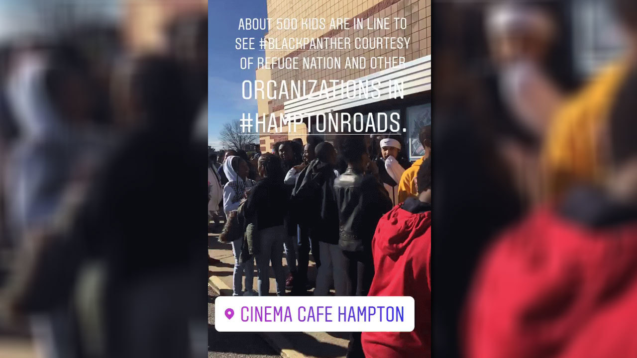 #BlackPantherChallenge Hampton event