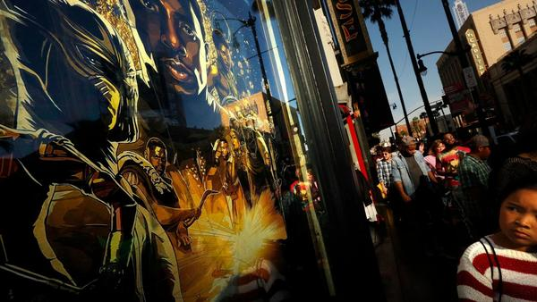 Record-breaking box office, traditional African garb and more as 'Black Panther' fever takes over L.A.