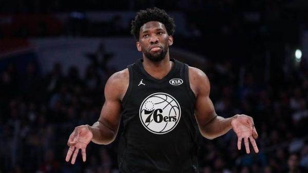 Joel Embiid was the center of attention at NBA All-Star game