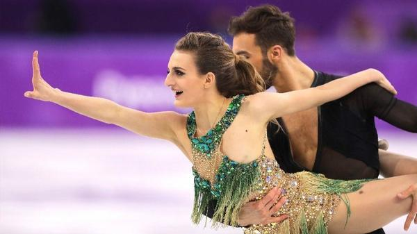 Despite slip, French couple is in second after short dance