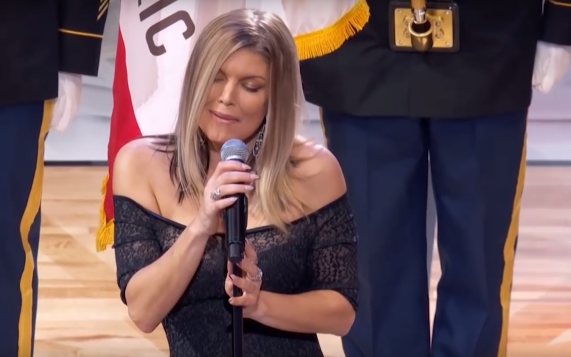 Fergie's NBA All-Star Game national anthem confuses ... Fergie National Anthem