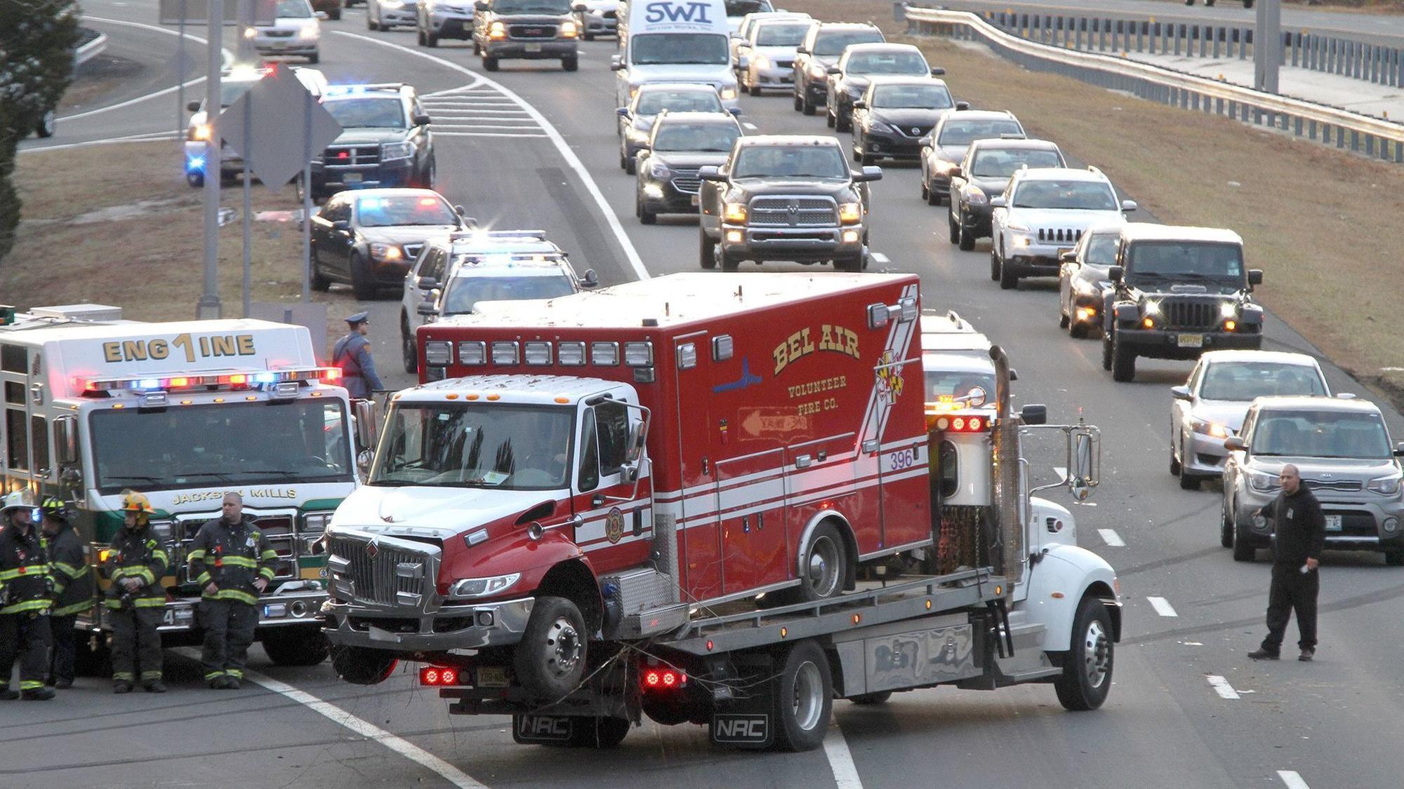 Bel Air Car >> Bel Air fire company ambulance damaged in N.J. crash - The Aegis