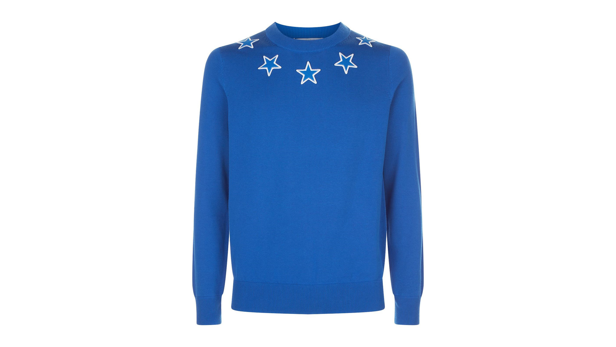 Designer: Givenchy Photo credit: Givenchy Electric-blue technical cotton men's sweater by Givenchy h