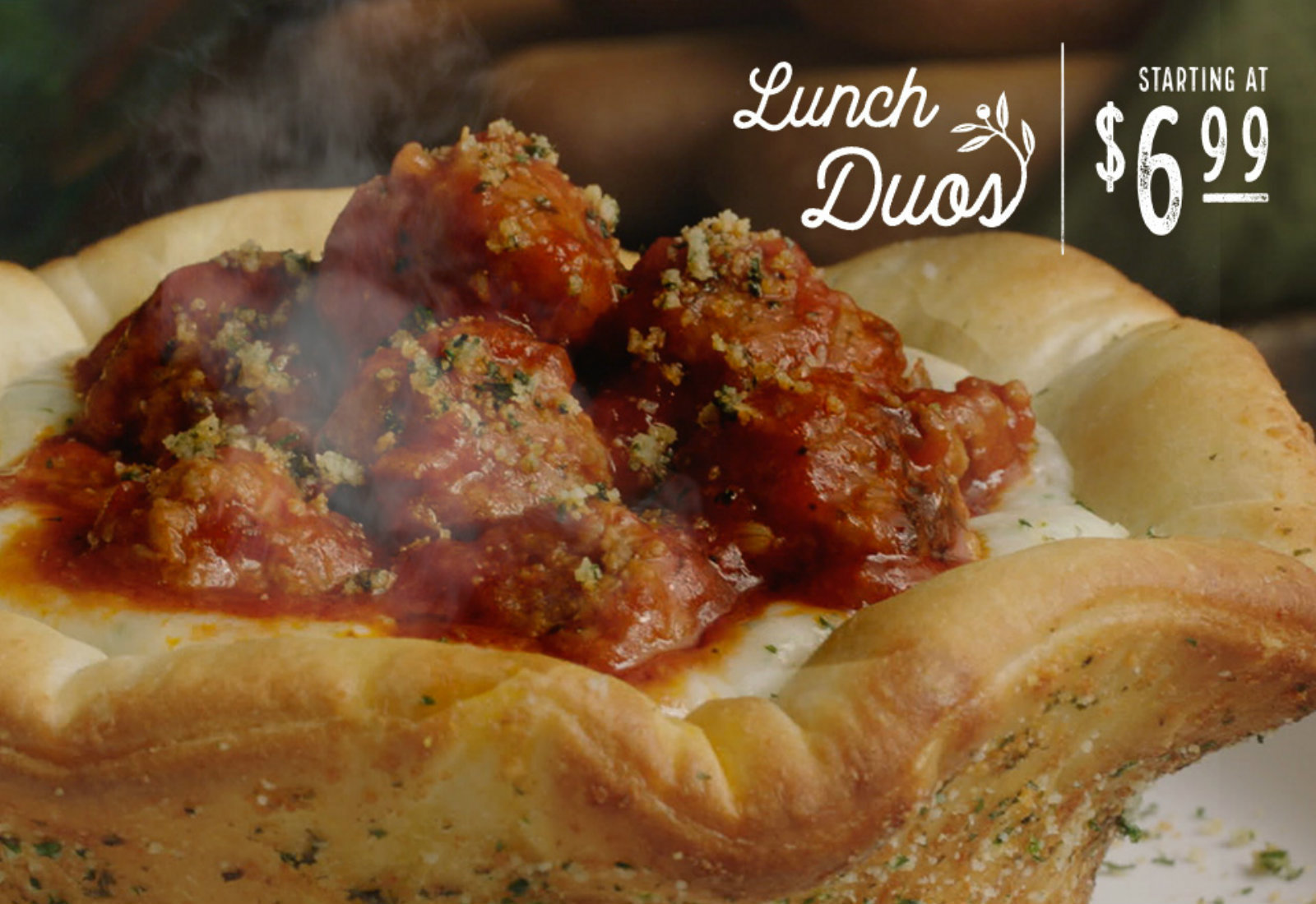 Olive Garden\'s newest food hybrid is a pizza bowl full of meatballs ...