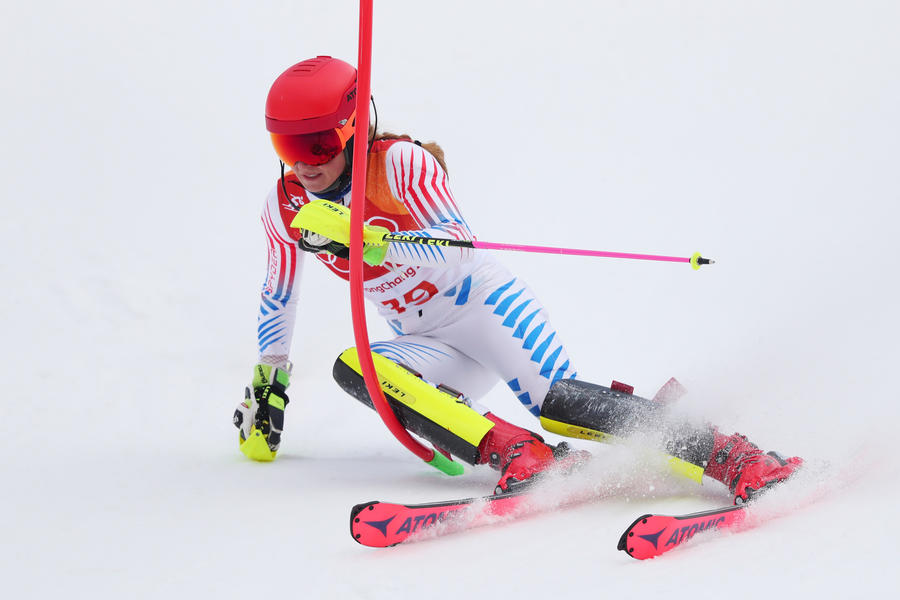 Mikaela Shiffrin added a silver to her earlier gold in the slalom. (Tom Pennington / Associated Press)
