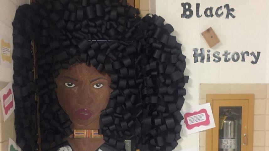 Classroom Door Decoration Ideas For Black History Month ~ Baltimore teacher s black history month door decorations