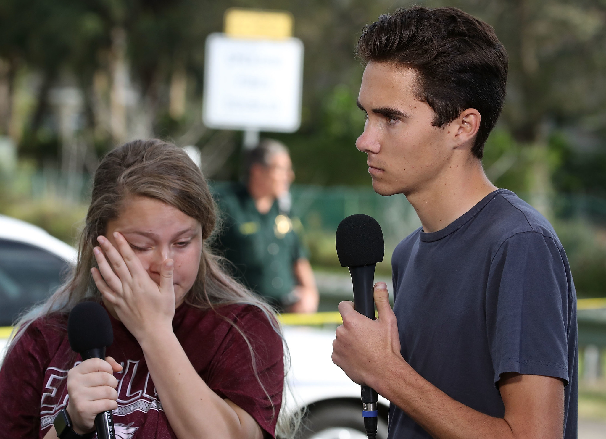 Kelsey Friend and David Hogg.