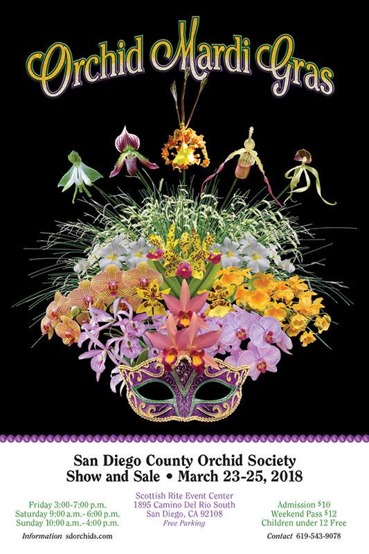 orchid mardi gras flier