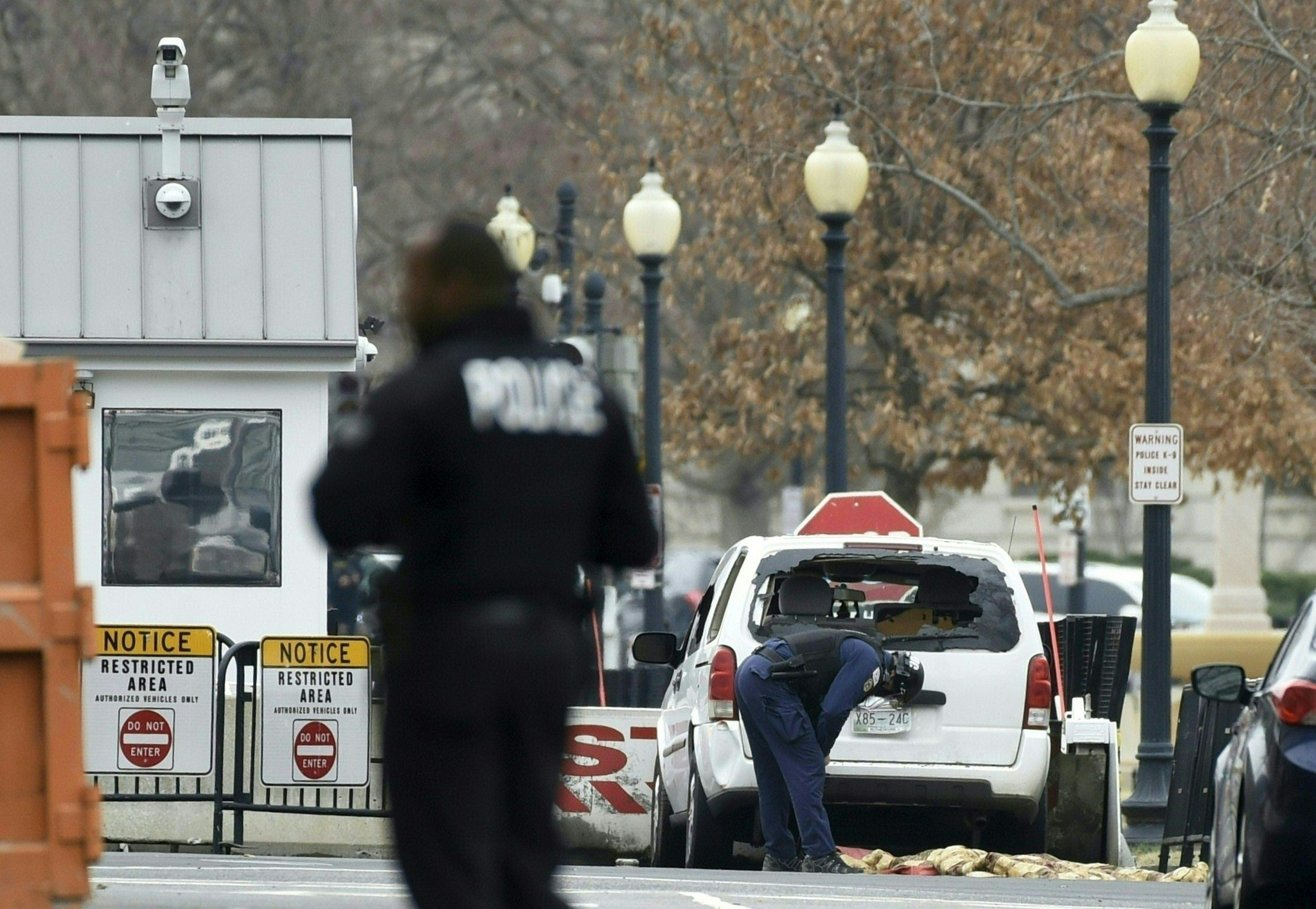 Woman arrested after driving into White House barrier was convicted last year of trying to climb fence