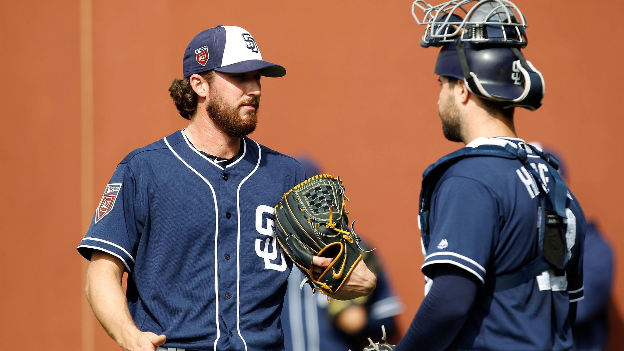 Padres Veteran Pitchers Prospects Show Their Stuff In Loss To A S The San Go Union Tribune