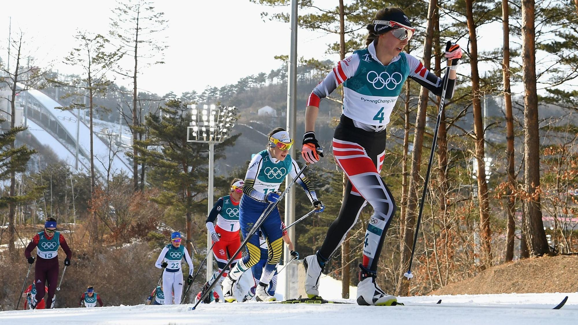 Watch Austrian cross-country skier took a wrong turn costing her Olympic medal video