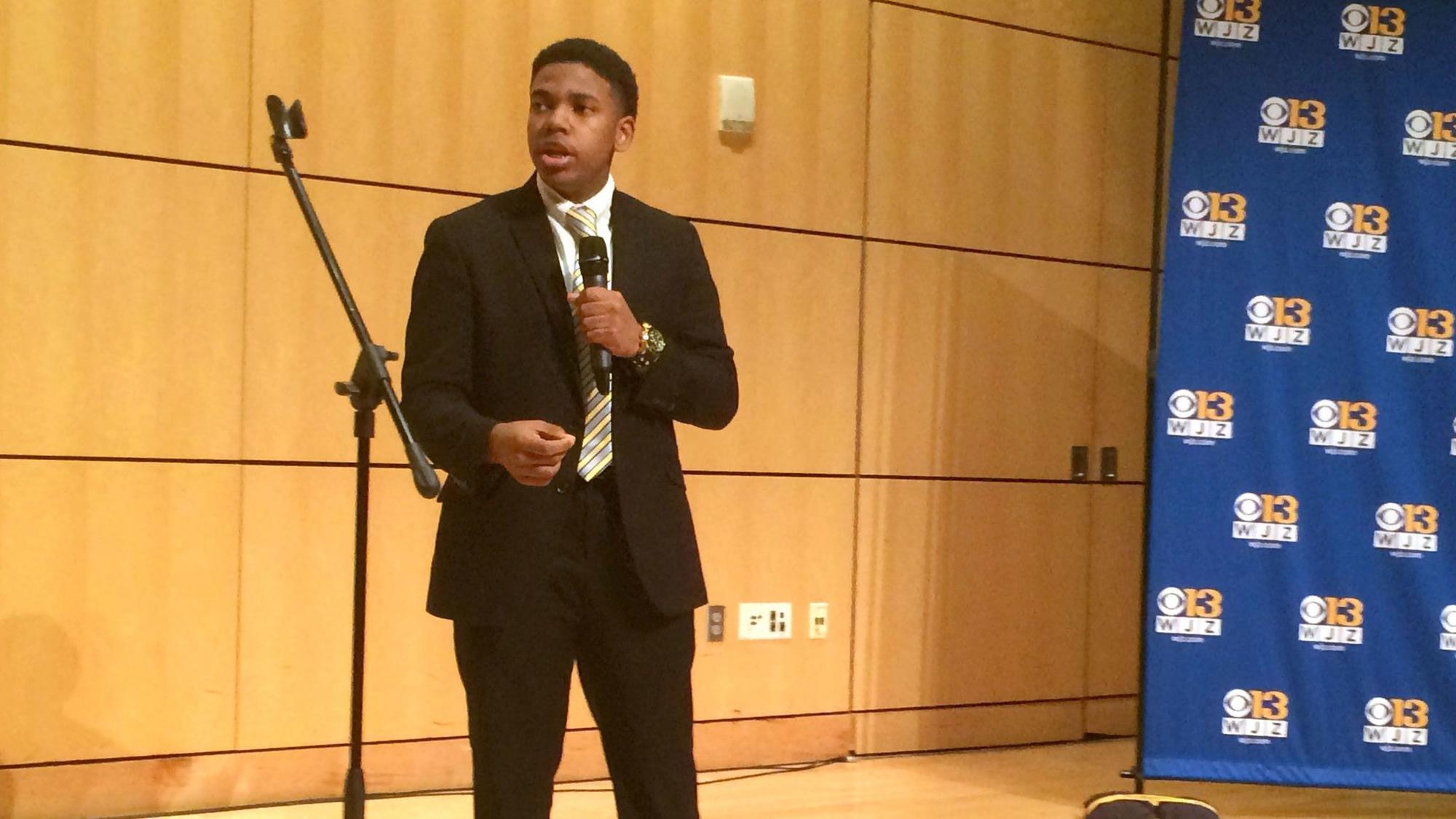 Mount Zion Baptist Christian School junior wins WJZ's 2018 Black History oratory competition