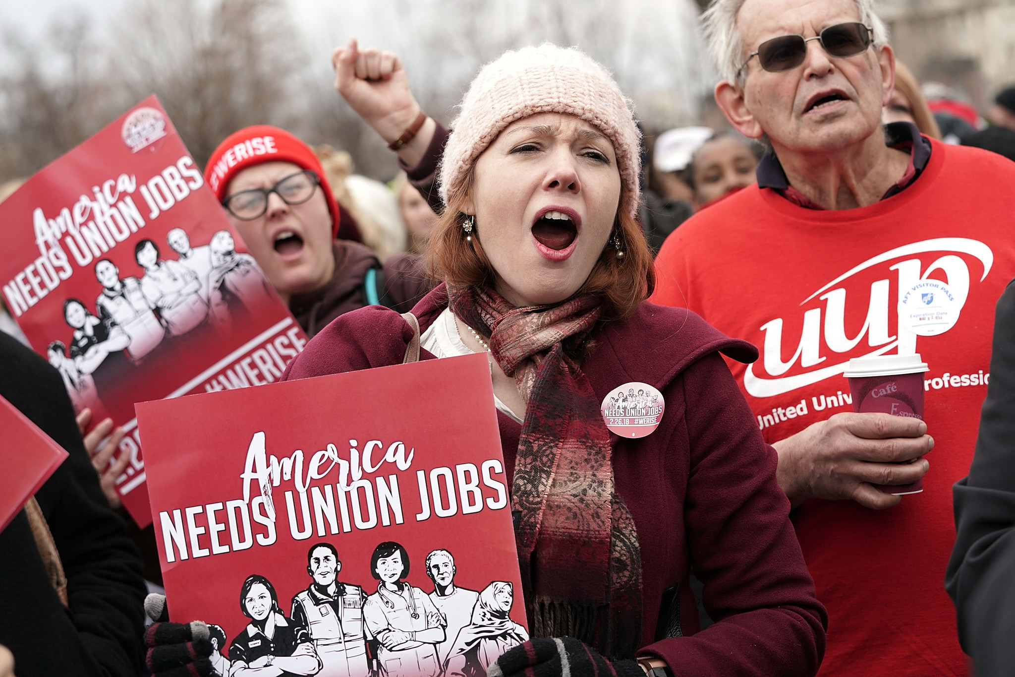 Organized labor case goes in front of Supreme Court
