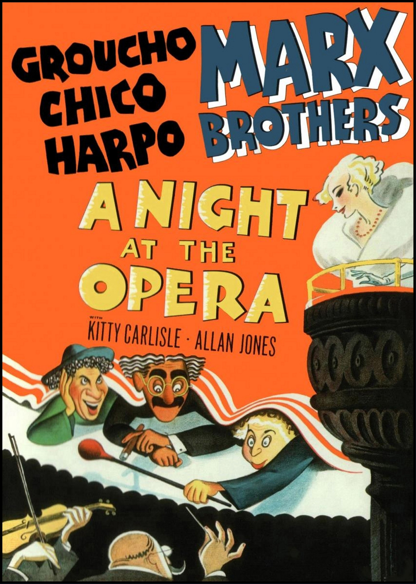 """A Night at the Opera"" movie poster"