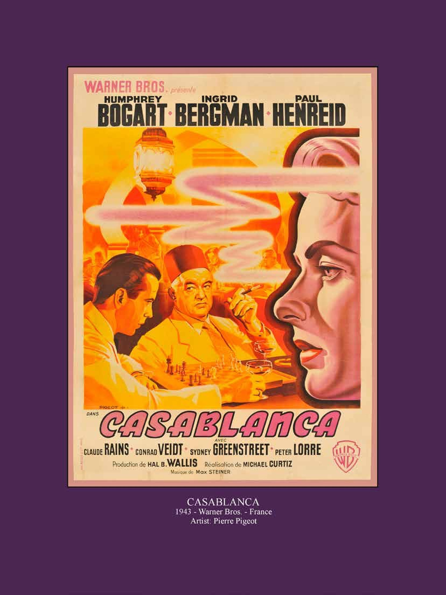 """Casablanca"" movie poster"