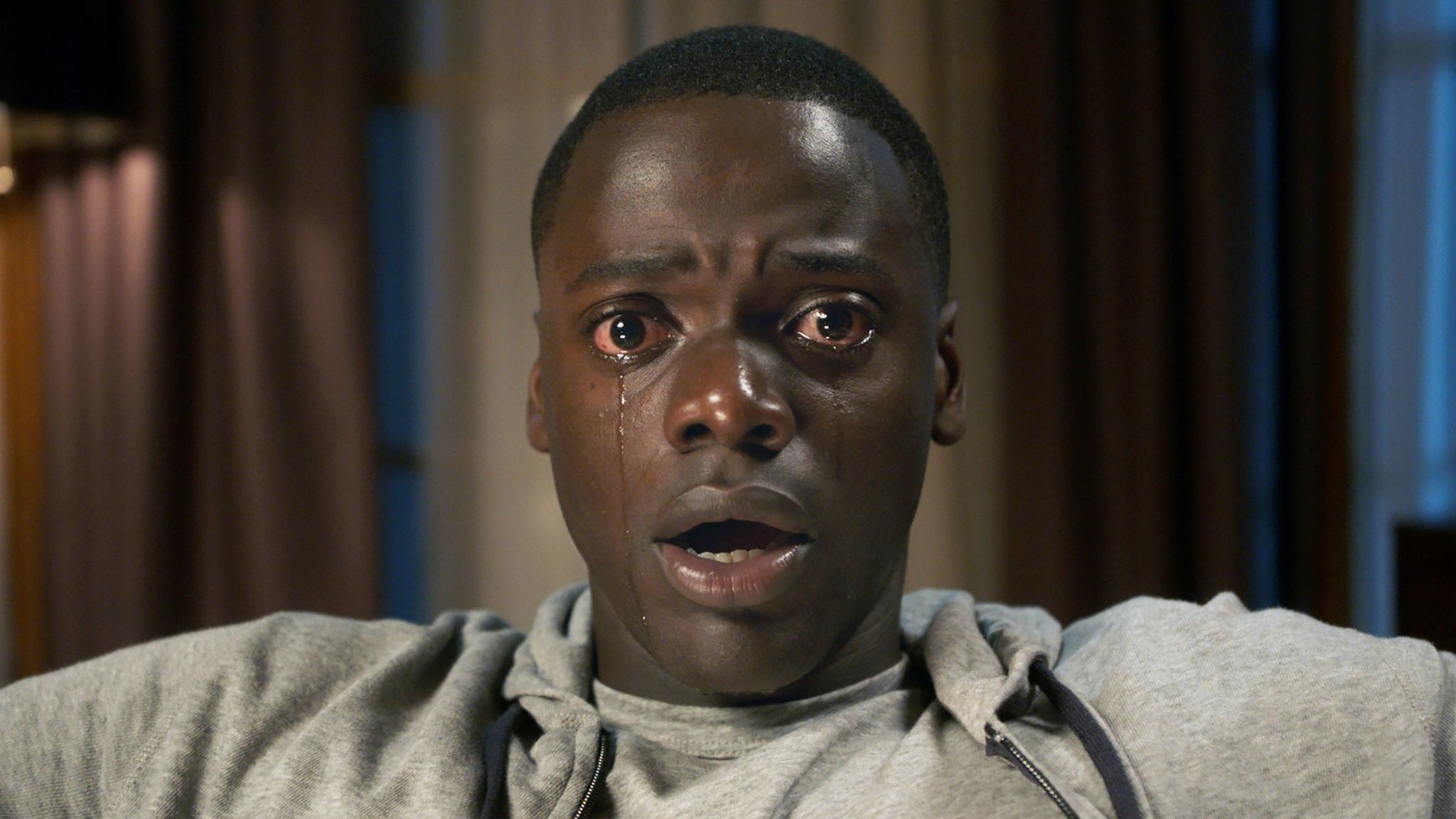 "This image released by Universal Pictures shows Daniel Kaluuya in a scene from, ""Get Out."" ""Star War"